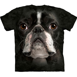 Boston Terrier Face Adult Plus Size T-Shirt 43-1033670