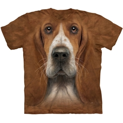 Basset Hound Head Adult 3X-Large T-Shirt 43-1036070