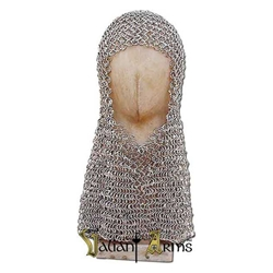 Chainmail Coif Riveted Flat Steel 62-9329