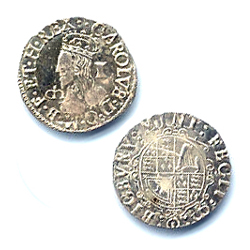 Charles I Coin Silver Penny 1625 BI 130