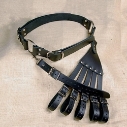 Leather Rapier Belt and Hanger OLH60
