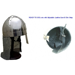 Spangenhelm with Chainmail Aventail Ready For Use